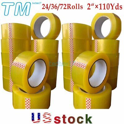 2110yards Clear Packing Tape Packaging Carton Sealing Tape 24-36-72 Rolls Us