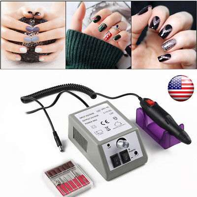 Professional Manicure Pedicure Electric Drill File Nail Art Pen Machine Kit Set , used for sale  Ontario
