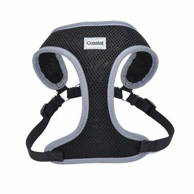 Coastal Pet Comfort Soft Reflective Wrap Adjustable Dog Harness - Black X-Sma...