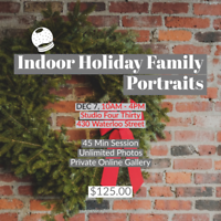 Indoor Holiday Family Portraits
