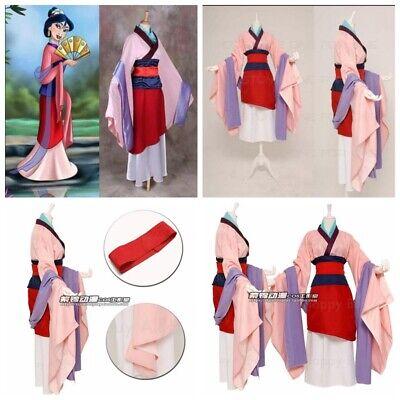 Damen Hua Mulan Kostüm Anime Costume Kleid Han-Chinesen Kleidung Vollset Cosplay