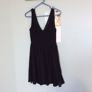 Black h & m dress size 6 used once