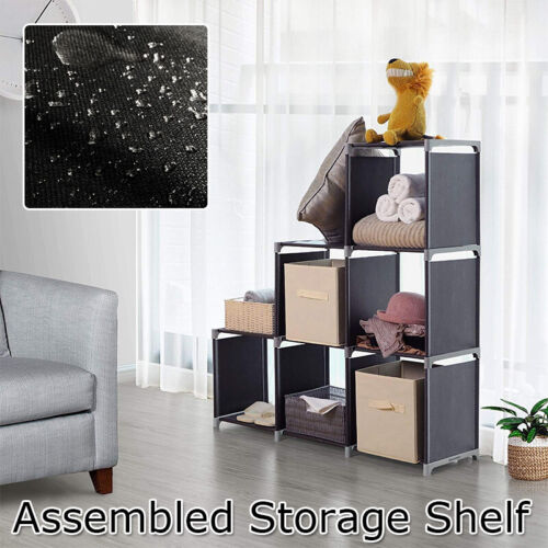 Storage Organizer Closet Shelves 6 Cubes Bookcase Display Wa