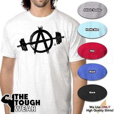 ANARCHY Gym Rabbit T Shirt 6 colors Workout Bodybuilding Fitness Lifting - Anarchy Fitted T-shirt