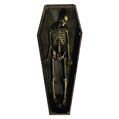 SKELETON COFFIN Casket CARDBOARD CUTOUT Standup Standee Scary Halloween Prop - Scary Halloween Cutouts