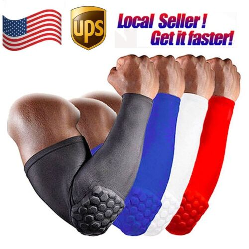 Honeycomb Pad Elbow Sleeve Compression Support Arm Brace Sup