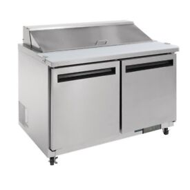 Polar GD882 2 Door Refrigerated Prep Counter (comes with a bespoke glass)