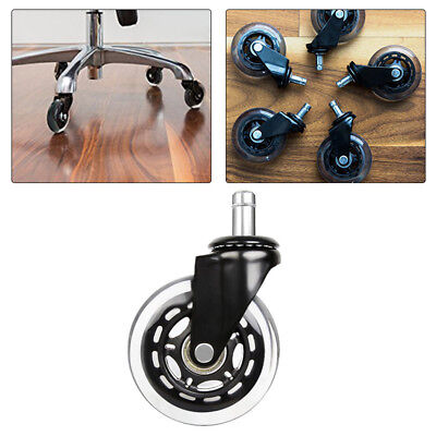 125pcs 3 Office Chair Style Soft Wheel Casters Ball Bearing Axle