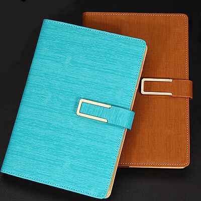 - Writing Journal Cyan Faux Leather Cover Lined Diary 200 Pages Business Notebook