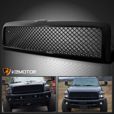 For 1994-2001 Dodge Ram 1500 2500 3500 Pickup Glossy Black Bumper Hood Grille