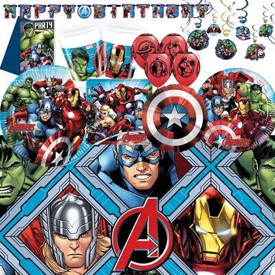 Marvel Avengers Party Geschirr, Dekorationen & Ballons