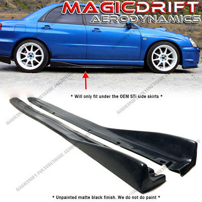 For 04-07 Subaru Impreza WRX STI CS Style JDM Side Skirts Rockers Extensions PU