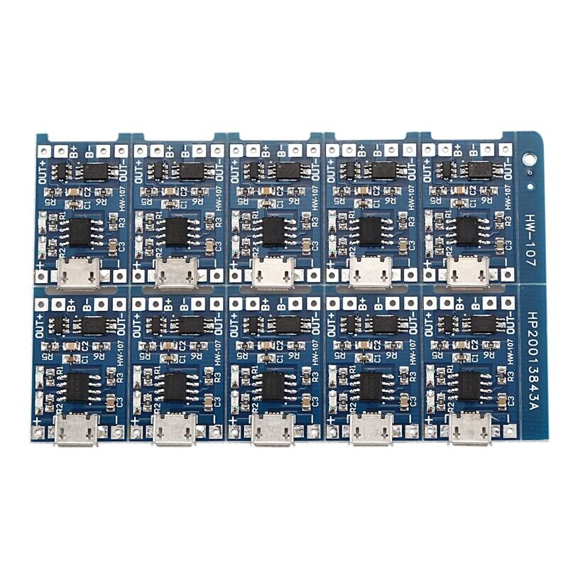 10Pcs 5V mini USB 1A 18650 TP4056 Lithium Battery Charging Board With Protec H2