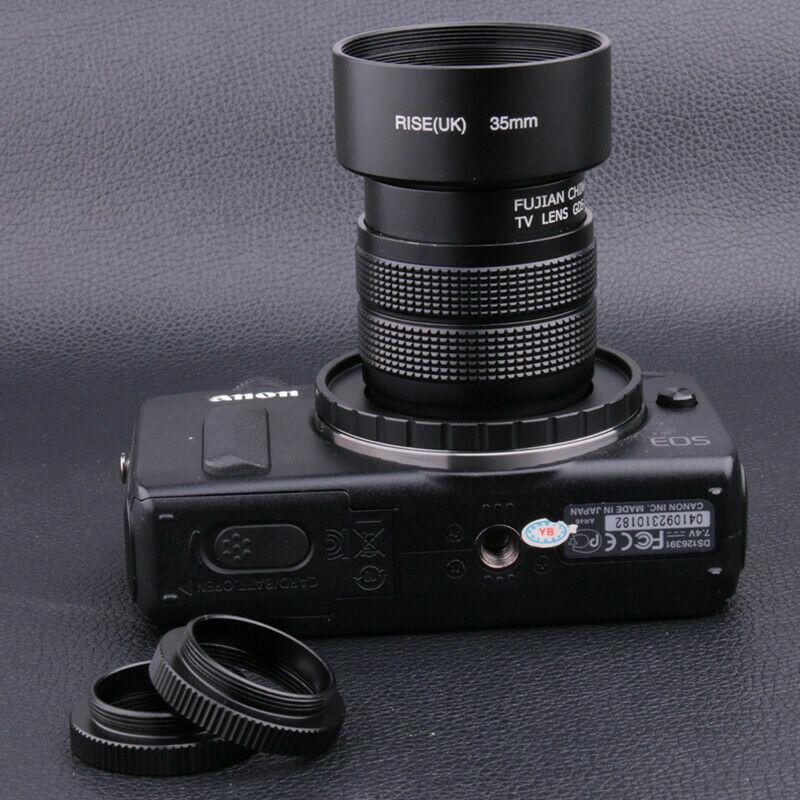 FUJIAN 35mm f/1.7 C Mount CCTV f1.7 lens for Canon EOS M EF-M Mirrorless Camera