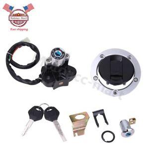 For Suzuki GSXR600/750/1000 04-15 Ignition Switch Fuel Gas Cap Seat Lock Key Set