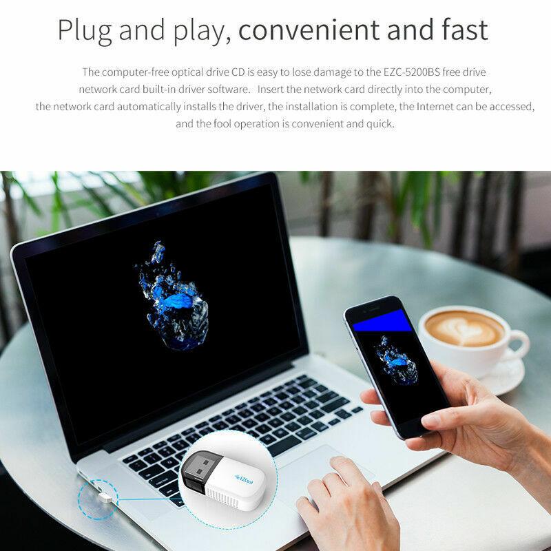 Adapter Dongle Dual 5G/2.5G Bluetooth PC Desktop