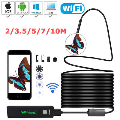 23.55710m Led Wireless Endoscope Inspection Camera Borescope For Ios Android