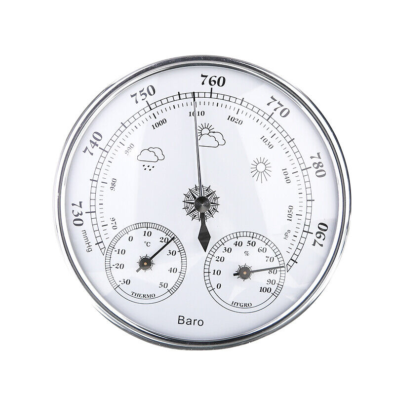 3 In 1 Metal Wall Hanging Weather Station Barometer Thermome