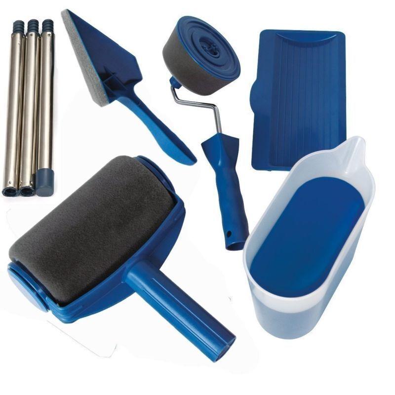 Paint Runner Pro Renovator Handle Tool Roller Room Wall Flachpinsel Brush Set