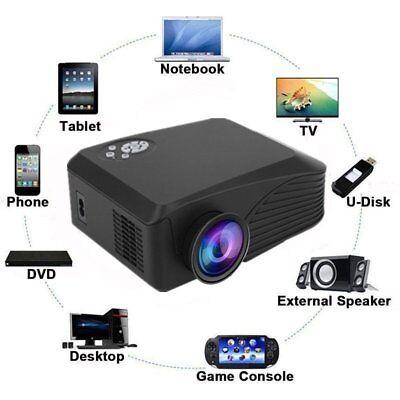 4K HD 1080P 7000 Lumens 3D Projector Home Theater LED PC AV VGA USB TF HDMI MY