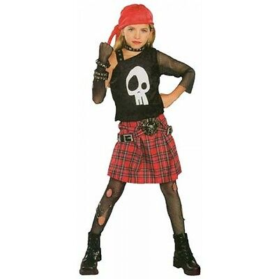 ALL THE RAGE! PUNK SKULL DIVA CHILD HALLOWEEN COSTUME GIRL'S SIZE LARGE - All The Halloween Costumes