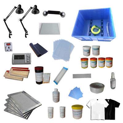 Screen Printing Materials kit All Silk Screen Ink Squeegee Screen Frame Supplies](Silk Screening Kit)