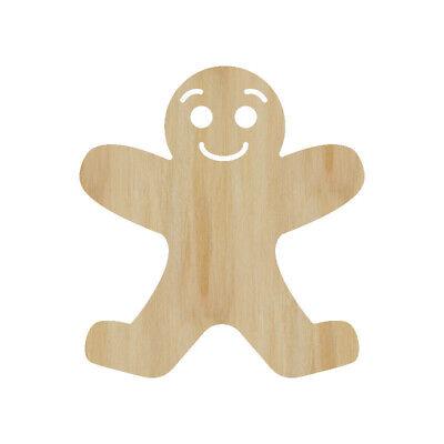 Gingerbread Man Laser Cut Out Wood Shape Craft Supply-  Wood Craft Cutout](Gingerbread Man Craft)