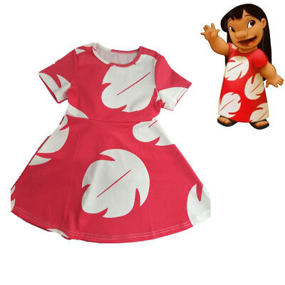 Family Womens Baby Girls Lilo and Stitch Cosplay Dress Costume Hawaii Travel New - Lilo And Stitch Costumes