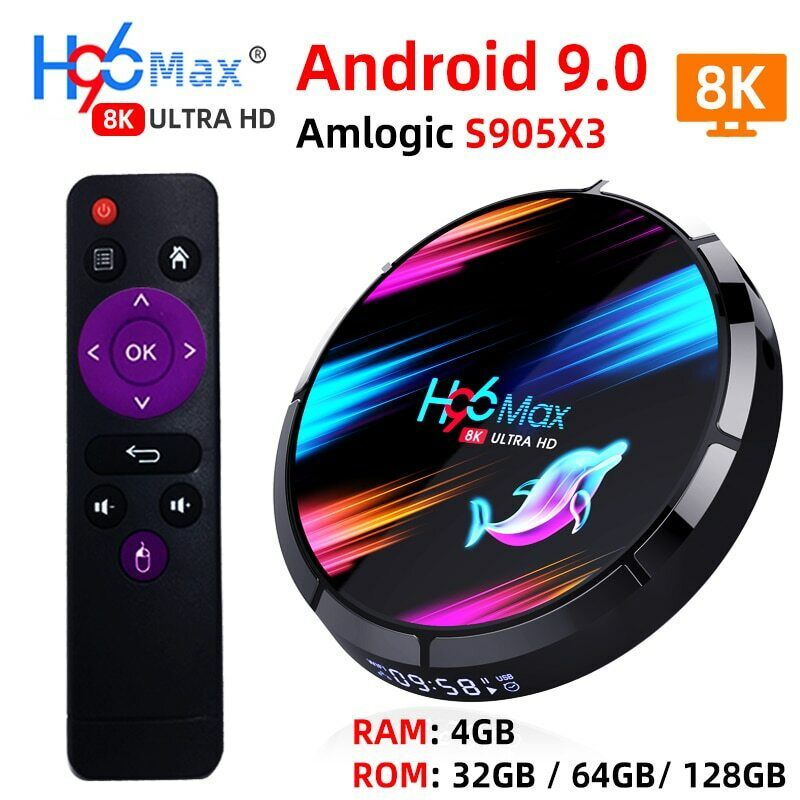 H96 MAX X3 Smart TV Box Android 9.0 with RAM 4G ROM 32G 64G