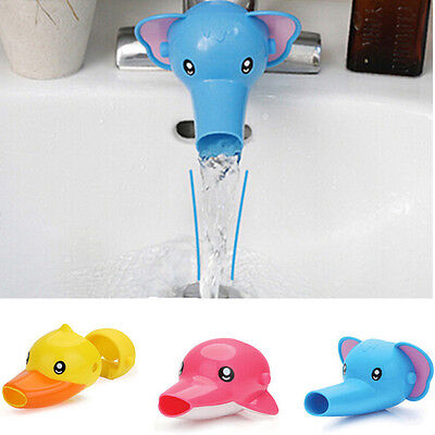 Bathroom Sink Faucet Extender Cute Yellow Duck For Children Kid Washing Hands
