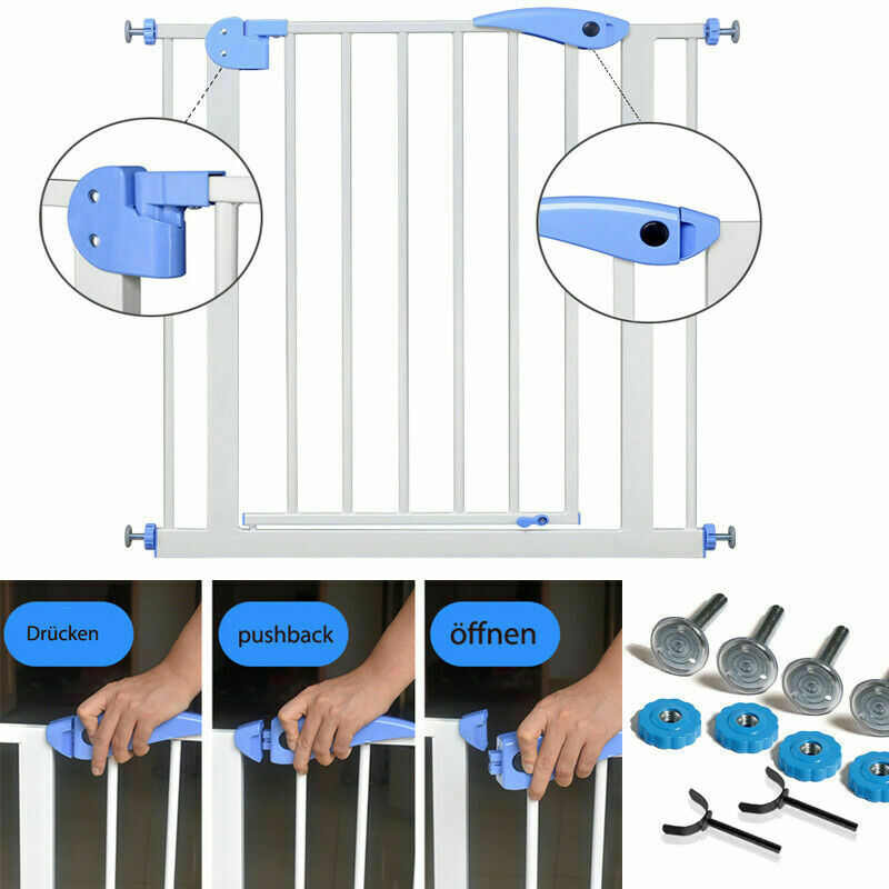 Treppenschutzgitter für Kinder Ohne Bohren Absperr Gitter Auto Close Türgitter