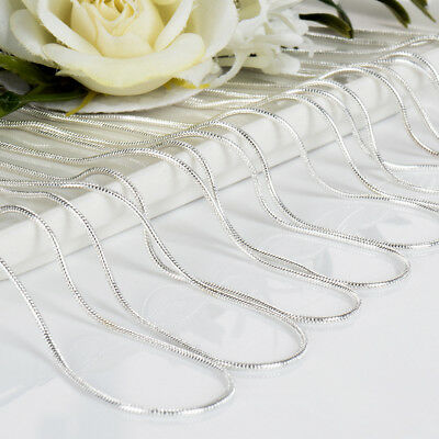 5Pcs/Pack Wholesale Cheap Silver Plated Snake Chain Charm Necklaces 16-30 inches](Cheap Necklaces)