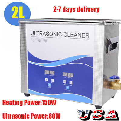 2l Liter Stainless Steel Digital Heated Industrial Ultrasonic Parts Cleaner Tool