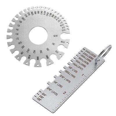 2pcs Steel Welding Gauge Welding Gauge Inspection Tool Wire Sizes Thickness