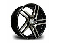 """x4 20"""" Riviera Twist Alloy Wheels Bmw 3 4 5 6 Series Black Bronze Staggered"""
