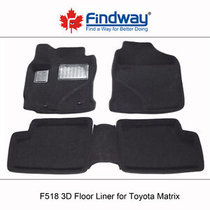 All weather 3D Car Floor Liners for 2003-2008 Toyota  Matrix