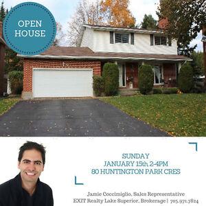 OPEN HOUSE! Sunday Jan 15th, 2-4pm -- 80 Huntington Park Cres