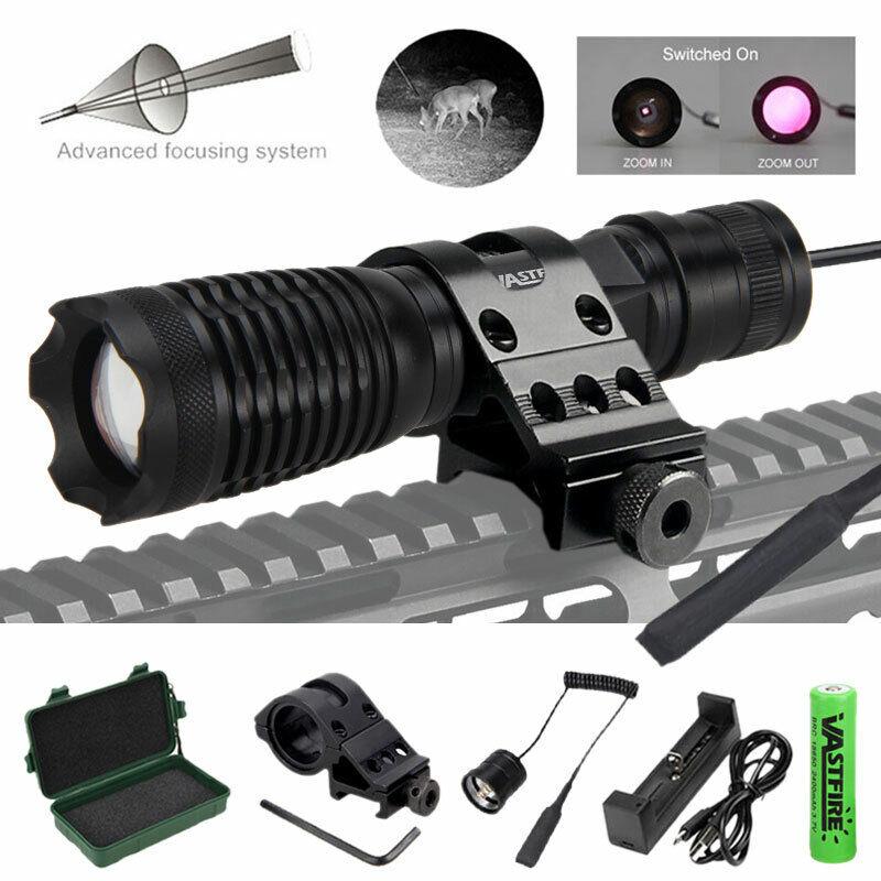 10W IR 940nm Infrared Night Vision Flashlight Torch Hunting Light Adjust Focus
