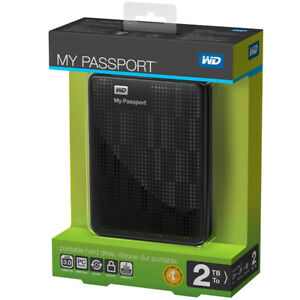 Western Digital My Passport 2 TB USB 3.0 Portable Hard Drive WDB