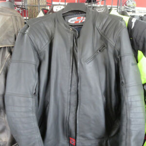 Men's Joe Rocket Leather Motorcycle Jacket $90 RE-GEAR