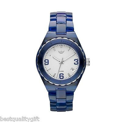 NEW ADIDAS CAMBRIDGE ACRYLIC BLUE+SILVER/WHITE DIAL WOMEN'S WATCH+DATE ADH2552 Dial Acrylic Date Watch