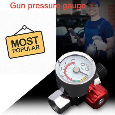 """1/4"""" Adjustable Mini Air Pressure Regulator Dial Gauge Spray Gun Air Tools"""
