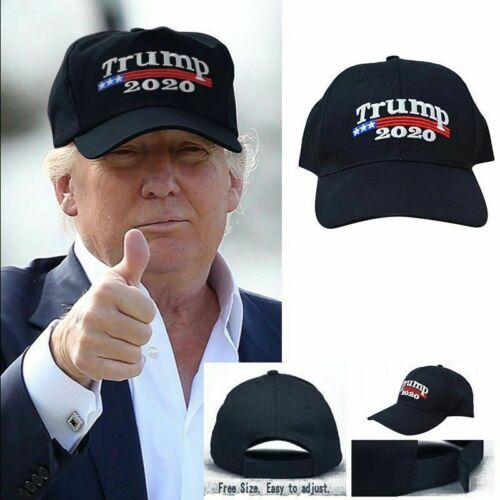10x Donald TRUMP  MAGA Make America Great Again Hat Election Cap Black & Red 11