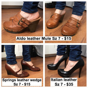 Shoes mint condition & brand new. Heels, wedges, flats, sandals!