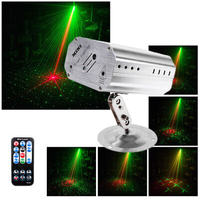 Sound Active LED Stage Projector Light Lighting Laser Beam Disco DJ Party+Remote