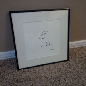 "Tony Randall The Odd Couple 8""x8"" Signed Sketch Kitchener / Waterloo Kitchener Area image 1"