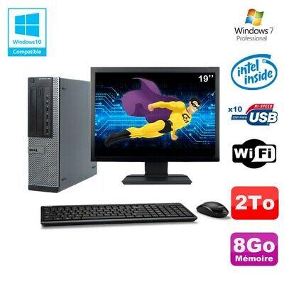 Lot PC Dell 790 DT G630 2.7Ghz 8Go Disque 2000Go DVD WIFI Win 7 + Ecran 19
