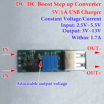 Dc-dc Boost Step Up Converter Cc Cv 3.3v 3.7v 4.2v To 5v 12v Usb Charger Module