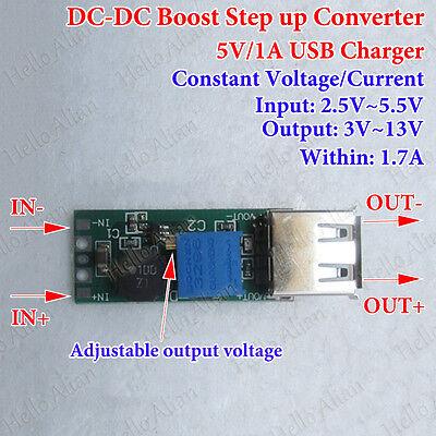 Mini Dc Boost Step Up Converter Cc Cv 3.3v 3.7v 4.2v To 5v 6v 9v 12v Usb Charger
