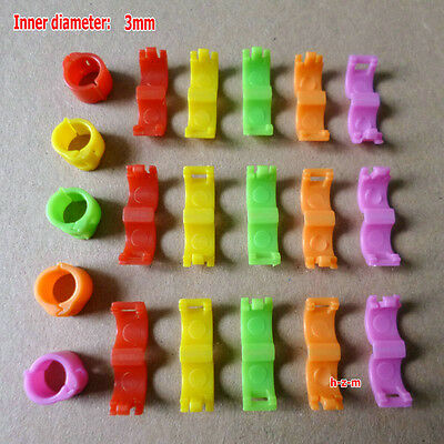 5 Colors Bird Ring Leg Bands Parrot Finch Canary  Grouped (3 mm )